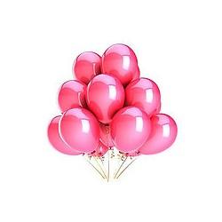 Ballons baudruche nacrés roses