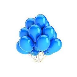 Ballons baudruche nacrés bleus